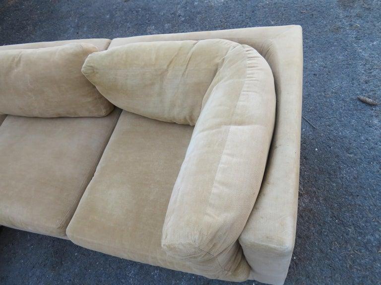 Wonderful 8 Piece Milo Baughman Curved Seat Sectional Sofa Mid-Century Modern For Sale 7