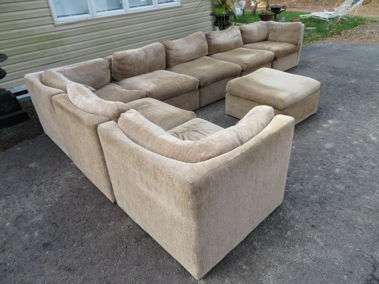 Curved Seat Sectional Sofa