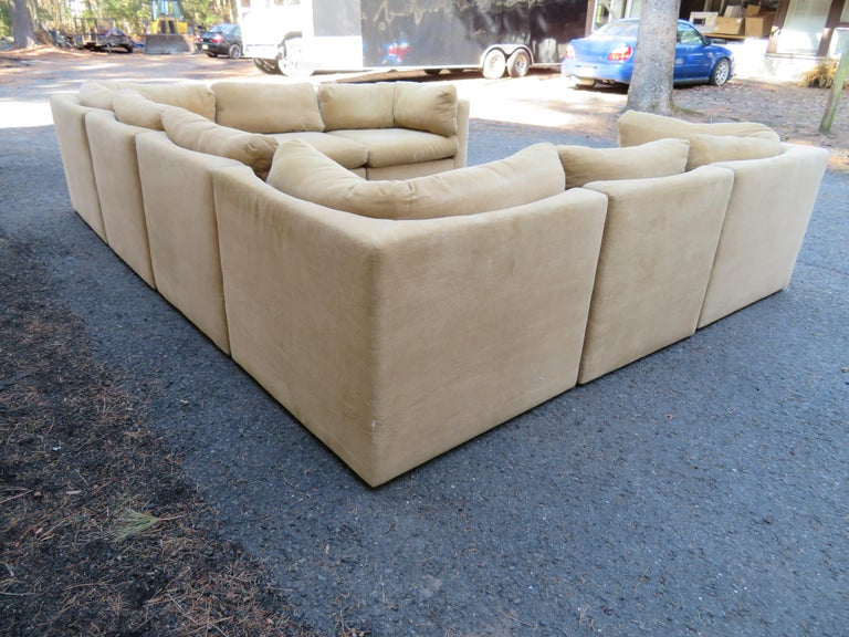 American Wonderful 8 Piece Milo Baughman Curved Seat Sectional Sofa Mid-Century Modern For Sale