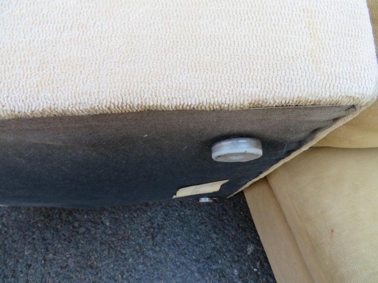 Wonderful 8 Piece Milo Baughman Curved Seat Sectional Sofa Mid-Century Modern For Sale 2