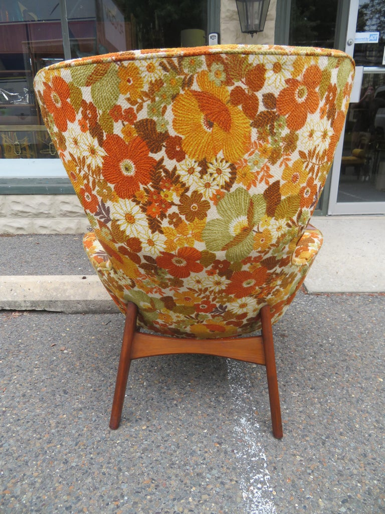 Mid-20th Century Wonderful Adrian Pearsall Wing High Back Chair Craft Associates Model 2231-C For Sale