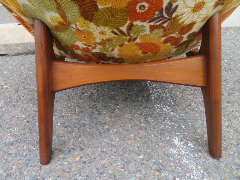 Upholstery Wonderful Adrian Pearsall Wing High Back Chair Craft Associates Model 2231-C For Sale