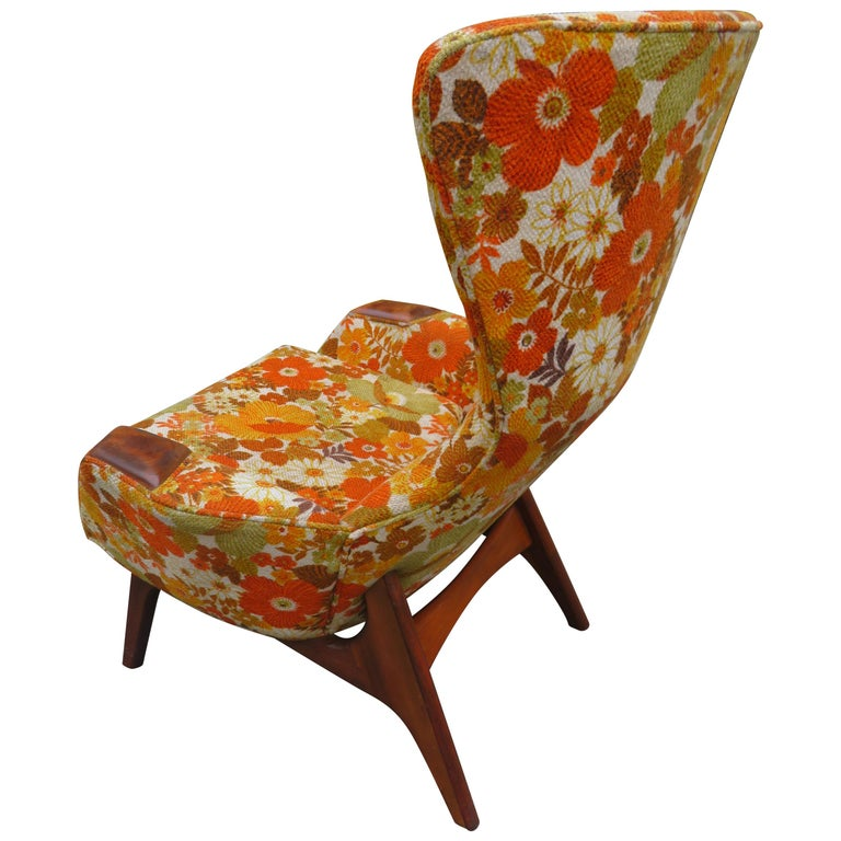 Wonderful Adrian Pearsall Wing High Back Chair Craft Associates Model 2231-C For Sale