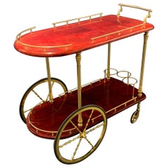 Wonderful Aldo Tura Barcart, Rare Color