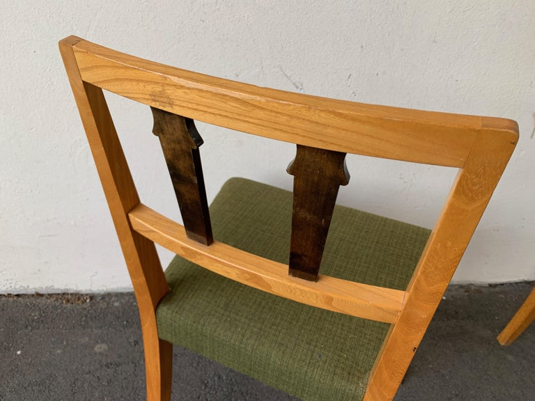 Danish Wonderful and Unique Dining Chairs by Theodor Hellberg For Sale