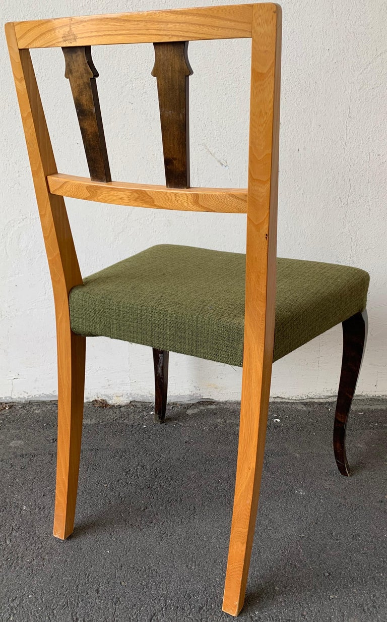 Wonderful and Unique Dining Chairs by Theodor Hellberg In Good Condition For Sale In Munich, DE