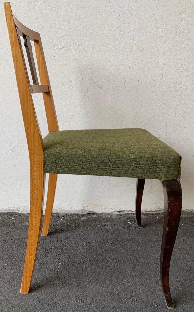 Mid-20th Century Wonderful and Unique Dining Chairs by Theodor Hellberg For Sale