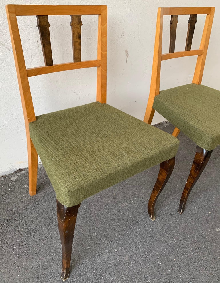Wonderful and Unique Dining Chairs by Theodor Hellberg For Sale 1
