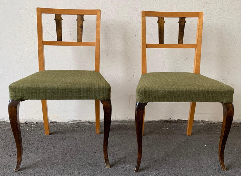 Wonderful and Unique Dining Chairs by Theodor Hellberg For Sale 2
