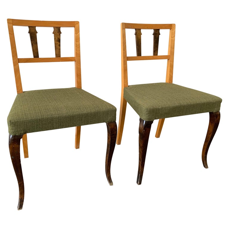 Wonderful and Unique Dining Chairs by Theodor Hellberg For Sale