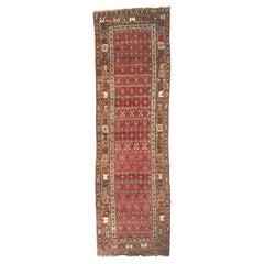 Wonderful Antique 19th Century Long Kurdish Rug