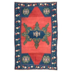 Wonderful Antique Armenian Karabagh Flat Rug Kilim