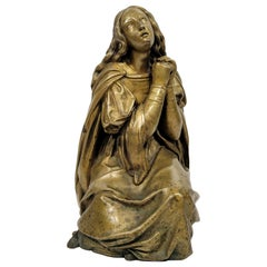 Wonderful Antique Bronze of Mary Magdalene, French, circa 19th Century