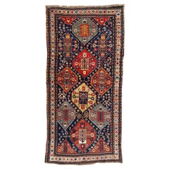 Wonderful Antique Caucasian Kazak Runner