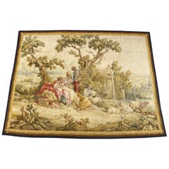 Wonderful Antique Extra Fine French Aubusson Tapestry