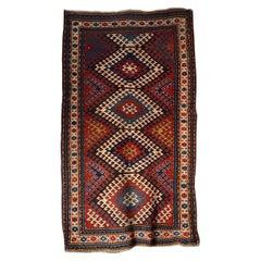 Wonderful Antique Fachralou Kazak Rug