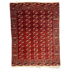 Wonderful Antique Fine Exceptional Tekke Boukhara Rug