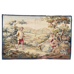 Wonderful Antique French Aubusson Fine Tapestry