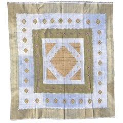 Wonderful Antique Hand Weaving Silk Tapestry from Alep
