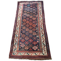 Wonderful Antique Long Caucasian Rug