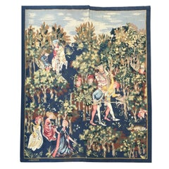 Wonderful Antique Original Aubusson French Tapestry
