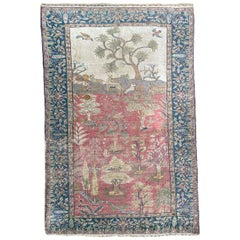 Wonderful Antique Silk Turkish Cesareh Rug