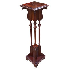 Wonderful Solid Mahogany Arts & Crafts Sculpture Stand Pedestal, circa 1900
