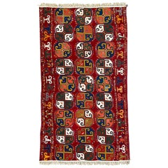 Wonderful Antique Uzbek Woven and Embroidered Panel