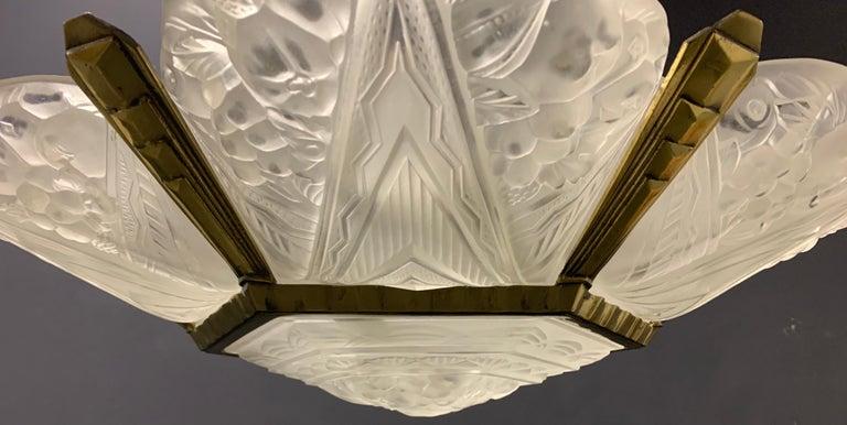 Wonderful Art Deco Chandelier from France For Sale 10