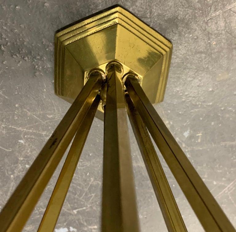 Wonderful Art Deco Chandelier from France For Sale 13