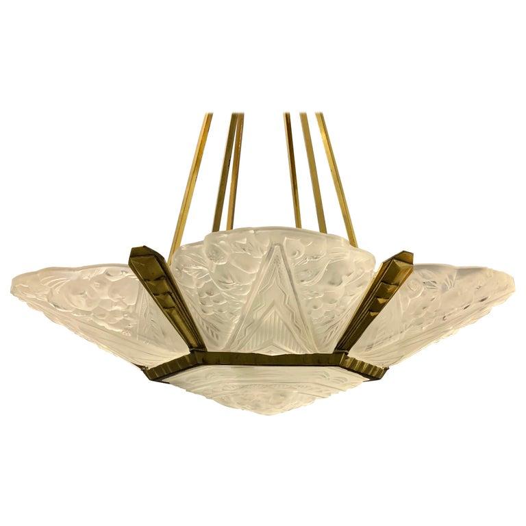 Wonderful Art Deco Chandelier from France For Sale