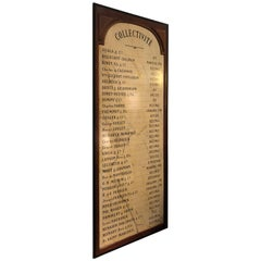 Wonderful Authentic French Restaurant Sign with List of Champagnes