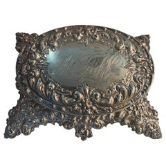 Wonderful Bailey Banks Biddle Company Sterling Oval Jewelry Keepsake Footed Box