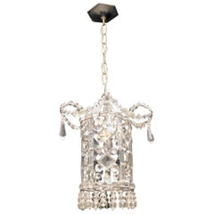 Wonderful Beaded Italian Venetian Pagoda Lantern Fixture Chandelier Pendent