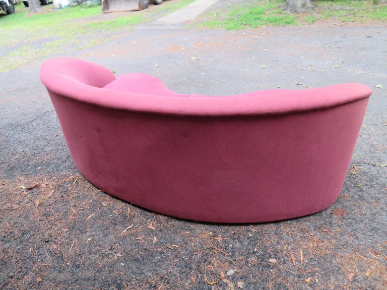 Upholstery Wonderful Biomorphic Kidney Bean Shaped Sofa by Vladimir Kagan for Directional For Sale