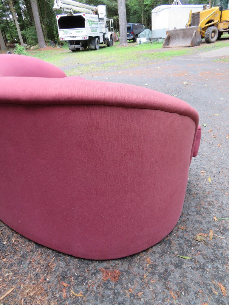 Wonderful Biomorphic Kidney Bean Shaped Sofa by Vladimir Kagan for Directional For Sale 1
