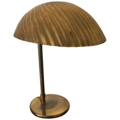 Wonderful Brass Desk Lamp from Finland with Shell Shade