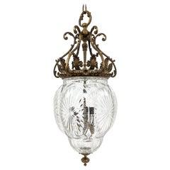 Wonderful Bronze Cut Crystal Lantern Hanging Pendant Light Fixture Chandelier