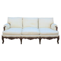 Wonderful Carved Italian Rococo Three-Seat Walnut Sofa