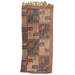 Wonderful Caucasian Verneh Embroidered Kilim