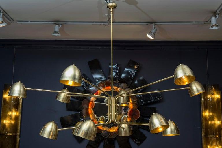 Brass Wonderful Chandelier by Studio Glustin For Sale