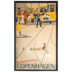 """""""Wonderful Copenhagen"""" Vintage Poster"""