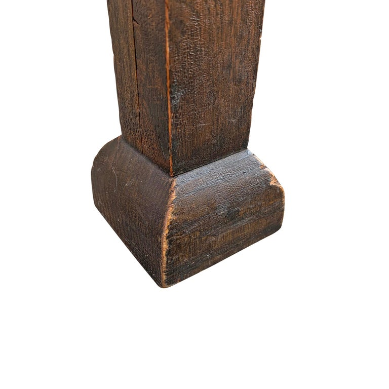 Wonderful Early 20th Century English Arts & Crafts Leather Top Stool For Sale 8
