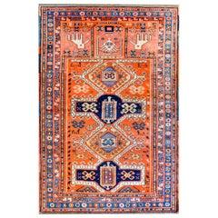 Wonderful Early 20th Century Kazak Prayer Rug
