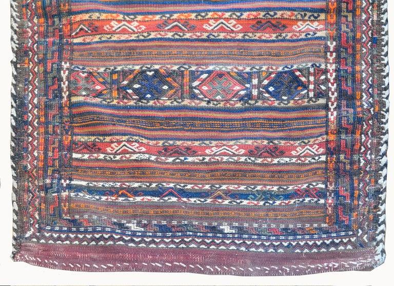 Vegetable Dyed Wonderful Early 20th Century Shahsevan Rug For Sale