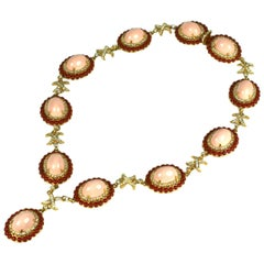 Wonderful, Early K.J.L Faux Coral Link Necklace