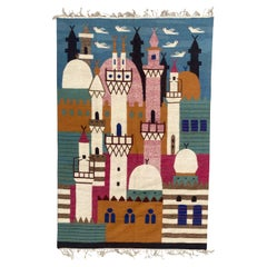 Wonderful Egyptian Ramsès Wissa Wassef School Tapestry