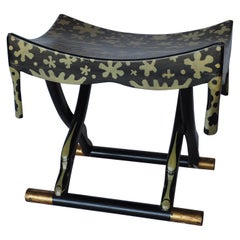 Wonderful Egyptian Revival Hand Painted Stool