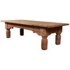 Wonderful English Carved Oak Coffee Table