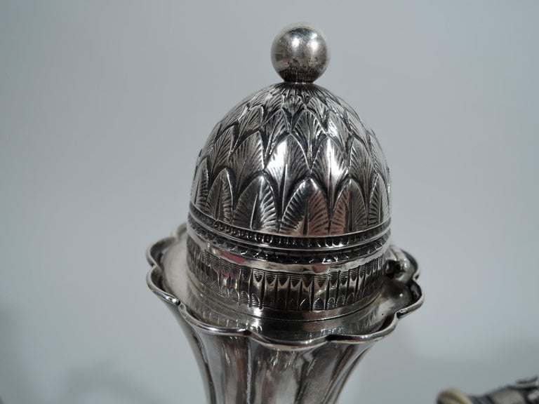 American Wonderful Exotic Sterling Silver Turkish Coffeepot by Gorham For Sale